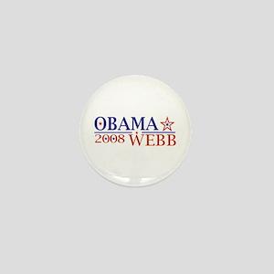 Obama Webb 08 Mini Button