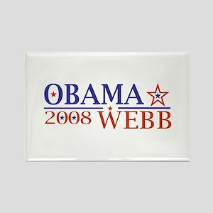 Obama Webb 08 Rectangle Magnet