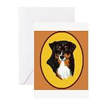 Australian Shepherd design Greeting Cards (Pk of 2