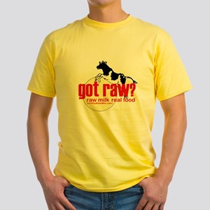 Raw Milk, Real Food Yellow T-Shirt