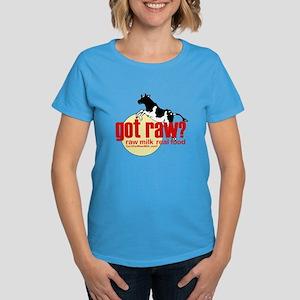 Raw Milk, Real Food Women's Dark T-Shirt
