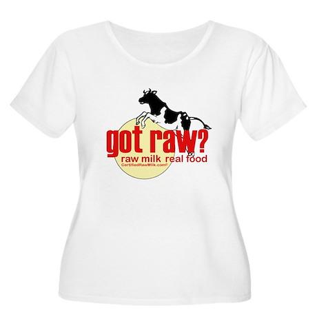 Raw Milk, Real Food Women's Plus Size Scoop Neck T