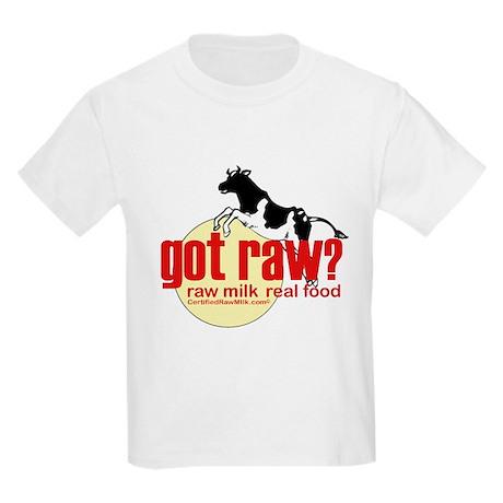 Raw Milk, Real Food Kids Light T-Shirt