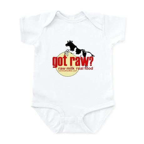 Raw Milk, Real Food Infant Bodysuit