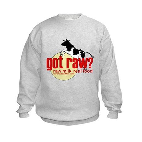 Raw Milk, Real Food Kids Sweatshirt