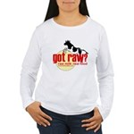 Raw Milk, Real Food Women's Long Sleeve T-Shirt