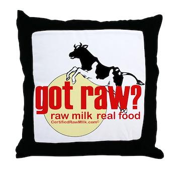 Raw Milk, Real Food Throw Pillow