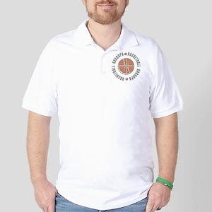 Basketball Grandpa Golf Shirt