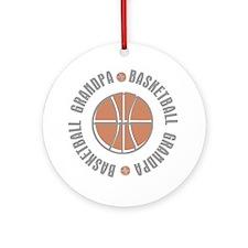 Basketball Grandpa Ornament (Round)