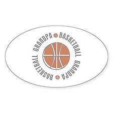 Basketball Grandpa Oval Sticker
