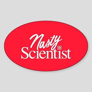 Nasty Scientist Sticker (Oval)
