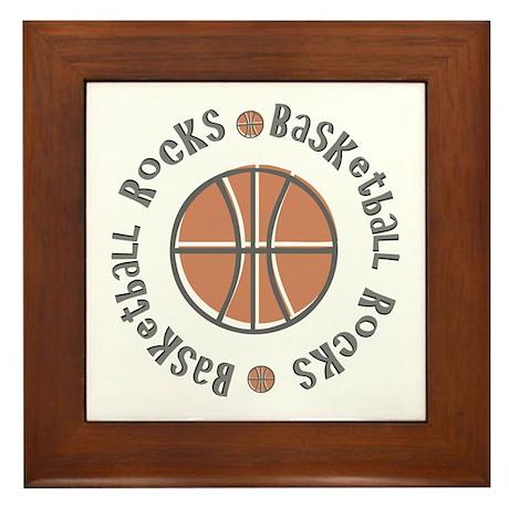 Basketball Rocks Framed Tile
