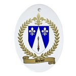 DUBEY Family Crest Oval Ornament
