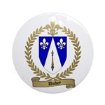 DUBEY Family Crest Ornament (Round)