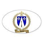 DUBEY Family Crest Oval Sticker