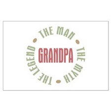 Grandpa Man Myth Legend Large Poster
