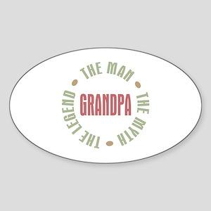Grandpa Man Myth Legend Oval Sticker