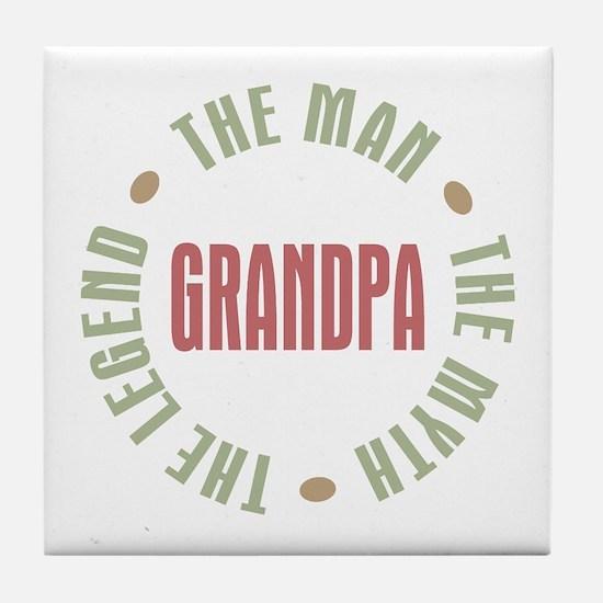 Grandpa Man Myth Legend Tile Coaster