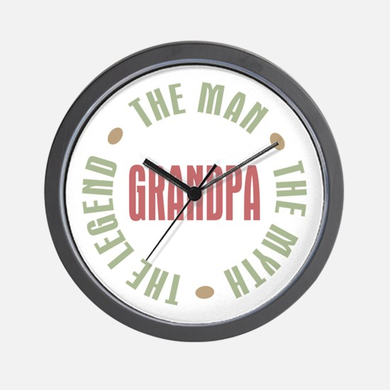 Grandpa Man Myth Legend Wall Clock