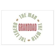 GrandDad Man Myth Legend Large Poster