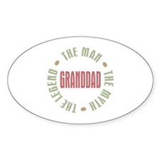 GrandDad Man Myth Legend Oval Sticker