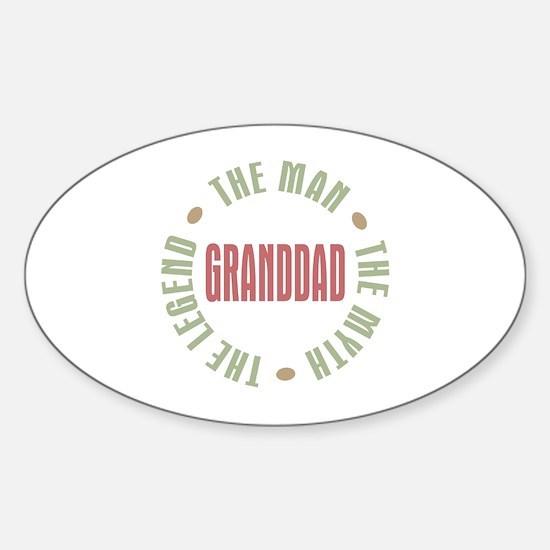 GrandDad Man Myth Legend Oval Decal
