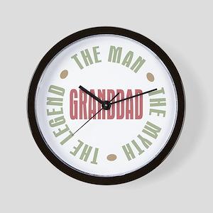 GrandDad Man Myth Legend Wall Clock