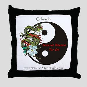 Jasmine Dragon of Colorado Throw Pillow