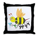 Buzzed Bee Throw Pillow