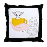Teacup Bart Throw Pillow