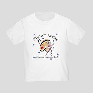 Future Artist Like Grandmother Toddler T-Shirt