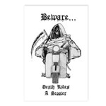Death Rides A Scooter Postcards (Package of 8)