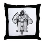 Death Rides A Scooter Throw Pillow