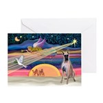 Xmas Star & G Dane (f) Greeting Card