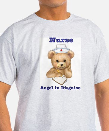 Nurse - Angel in Disguise Ash Grey T-Shirt