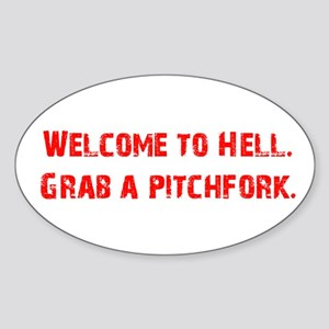 Welcome to Hell Oval Sticker