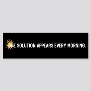 Solar Power Solution Bumper Sticker