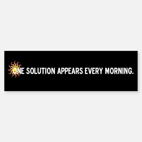 Solar Power Solution Bumper Bumper Bumper Sticker