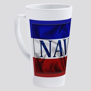 Harvest Moons Navy Flag 17 oz Latte Mug