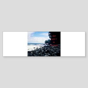 Get Lost! Black Beach Bumper Sticker