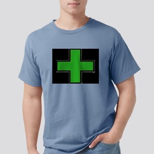 Green Medical Cross (Bold/ black background) T-Shi