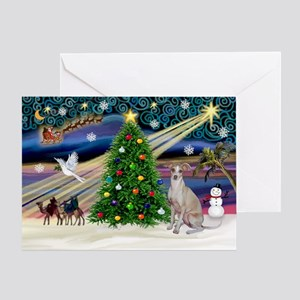 XmasMagic/Ital.Greyt1 Greeting Card