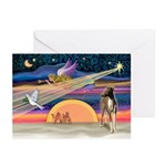 XmasStar/ItalianGreyt1 Greeting Cards (Pk of 10)