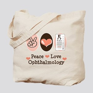 Peace Love Ophthalmology Tote Bag