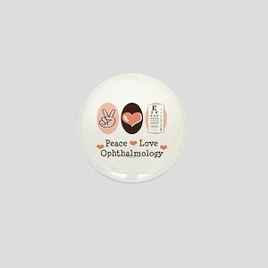 Peace Love Ophthalmology Mini Button