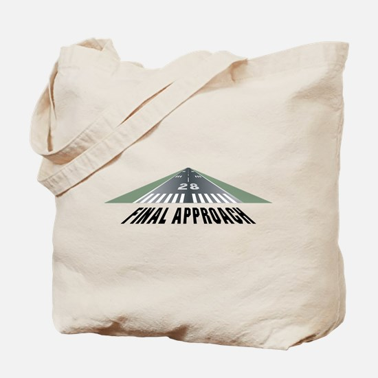 Aviation Final Approach Tote Bag