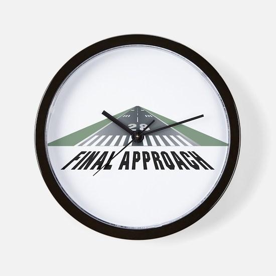 Aviation Final Approach Wall Clock