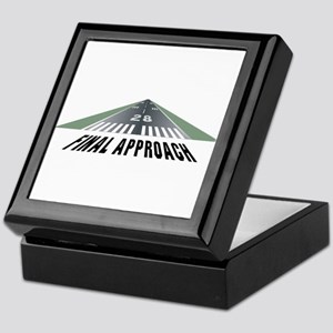 Aviation Final Approach Keepsake Box