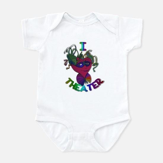 Cute I Love Theater Infant Bodysuit
