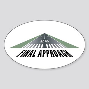 Aviation Final Approach Oval Sticker